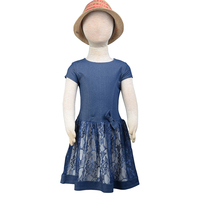 baby lace dress girls one piec parti wear frock dress with short sleeve