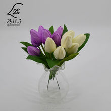 High Quality artificial flower mini 7 heads pointed tulip flowers