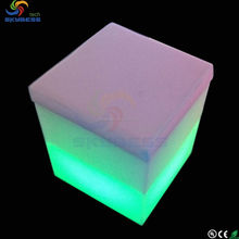 LED lighting cube stool chair/ bar stool seat covers