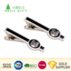 Golden supplier china custom design metal zinc alloy silver plating bus metal tie clip with custom logo
