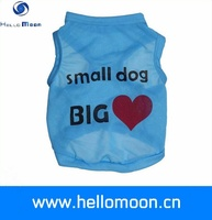 Bulk Stocked Summer Cool Pink Blue Small Dog Big Love T-Shirt Dog Clothing