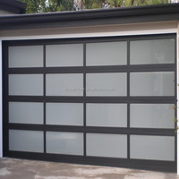 Security Design Glass Panel Garage Door/automatic sectional garage door