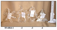 hanging Sponge glass snowflower angel and tree ornaments