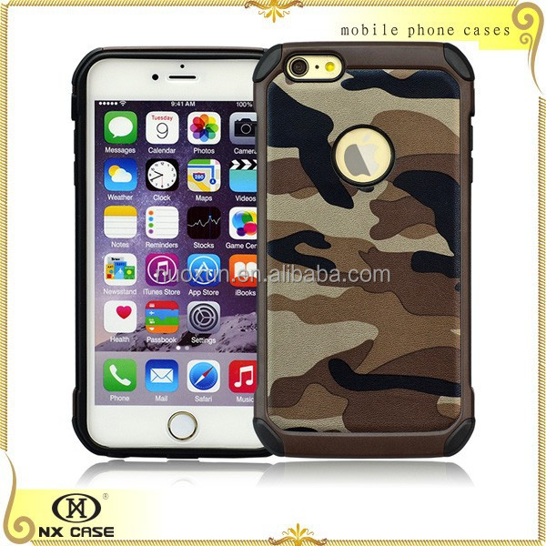 Design for USA style leather cell phone cases for Apple iP hone 6 plus