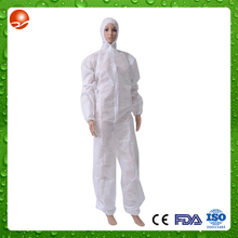 surgical non woven ce fda approved disposable breathable coverall 5 type 6 with CE certificate
