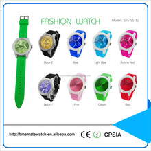 colorful dial and strap fashion watch silicone wrist watch clocks and watches