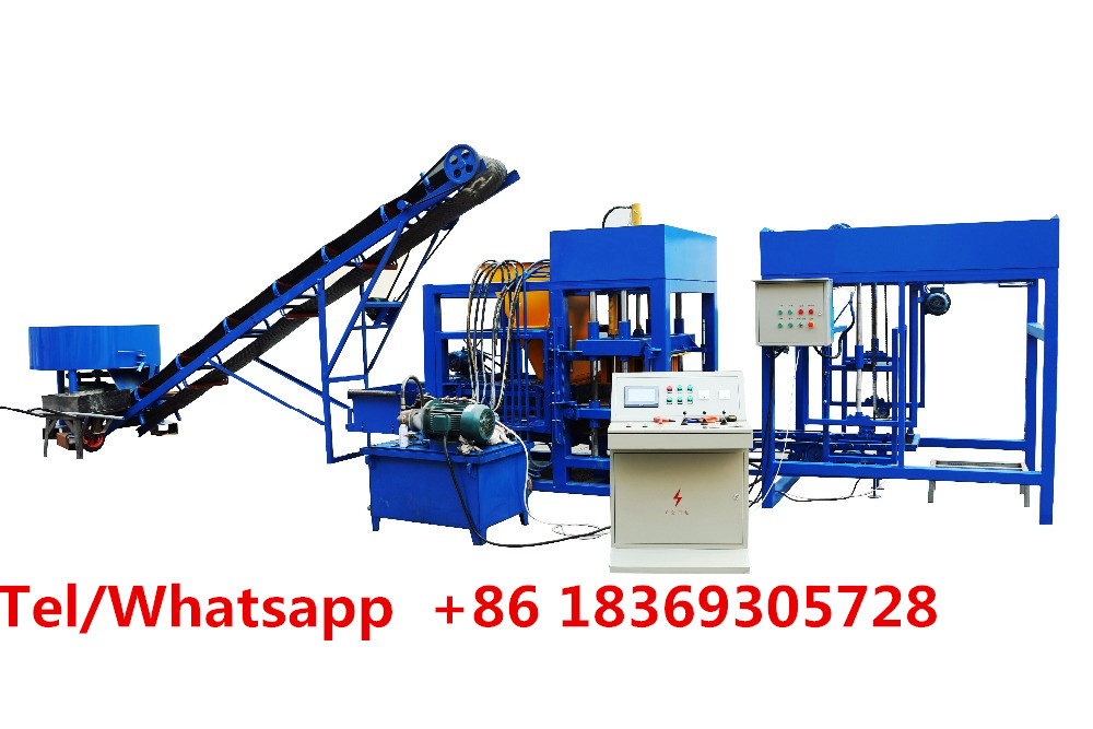 Brand factory full automatic block making machine QT4-20 for concrete hollow soild building material paver processing equipment