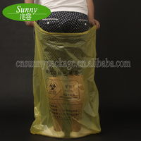 Medical Use Plastic Red Yellow Biohazard Infectious Waste Garbage Bag For Hospital