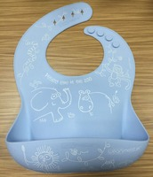 Waterproof high quality special large silicone baby bibs