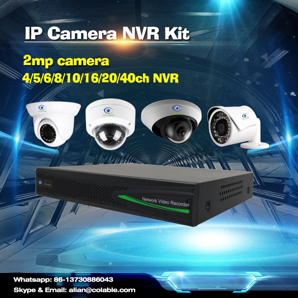 2016 new arrival 2MP full HD IR Vandalproof Mini IR POE Speed Dome Camera 4/8/16 channels nvr 1080p ip camera nvr kit