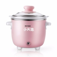Electric Ceramic Inner Pot 0.6L Slow Cooker Mini Rice Cooker For Home Kitchen Appliances