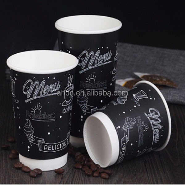 Milktea Durable Paper Coffee Cup for Beverage Drinking