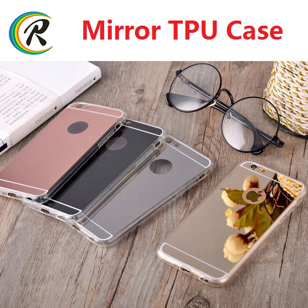 Colorful silicone phone electroplated case for iPhone 6S latest mobile phone mirror case