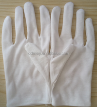Daily use 100% cotton plain white cotton work gloves safety working gloves