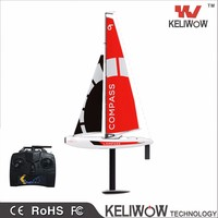 2.4ghz 4CH rc sailboats Compass rc fishing boats for sales