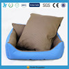 artificial leather removable dog bed with rattan mat
