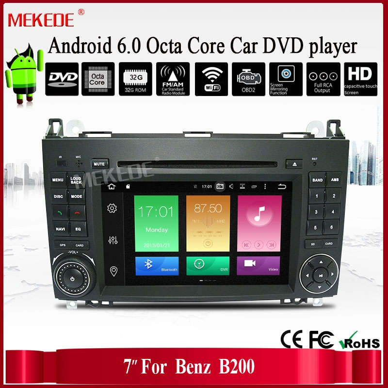 Wholesale 2 Din 7 Inch Android6. 0 Car DVD Player For Ben/Sprinter/W209/B200/A180/Viano/Vito/W639/A-class