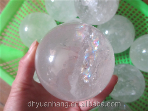 wholesale 80-100mm natural rock crystal sphere balls