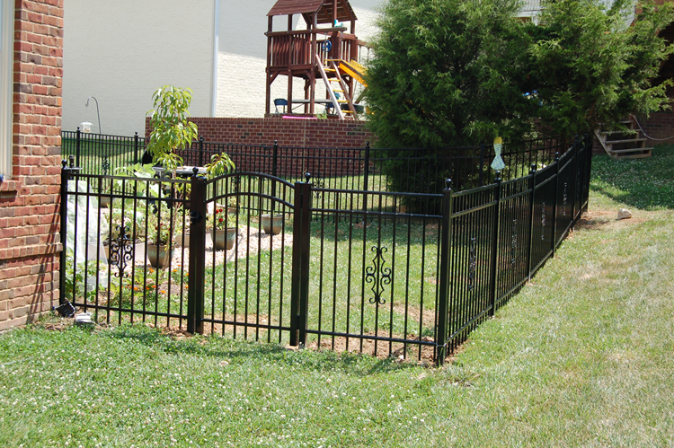 welding removable iron fence