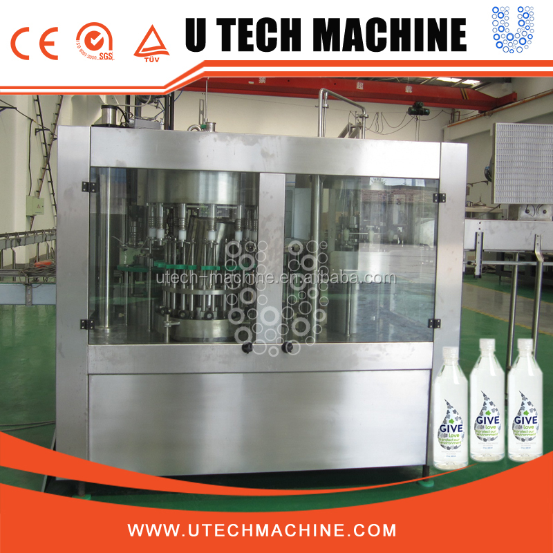U Tech 3 in 1 packaged drinking water plant for mineral water equipment