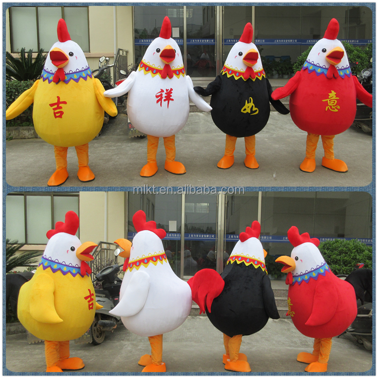 Factory direct sale chinese new year chicken rooster mascot costume