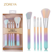 Professional 5pcs cheap travel synthetic hair makeup brush set