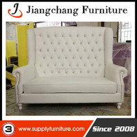 White PU Double Seater Sofa