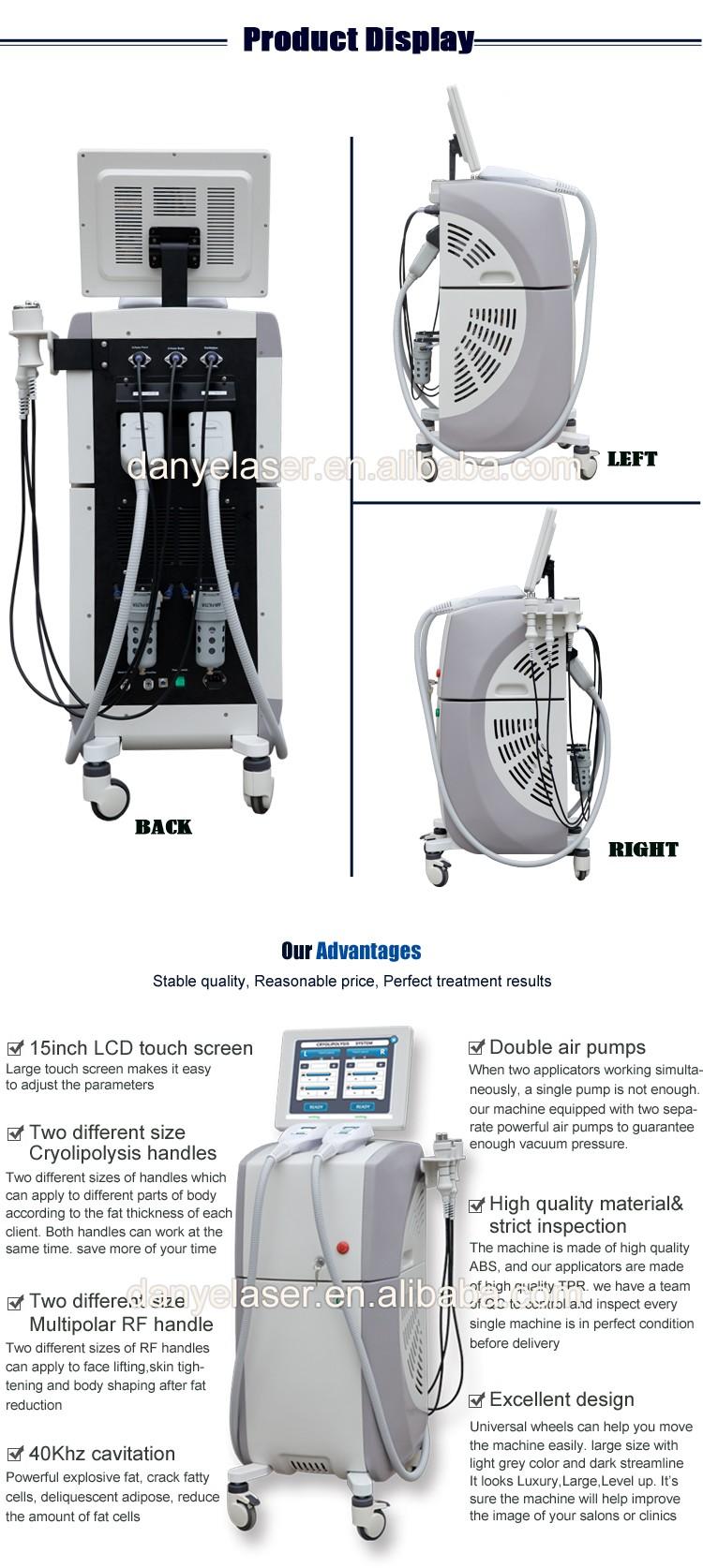 2017 New Technology Cryo Vacuum Ultrasonic Cavitation Rf 4