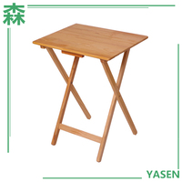 Yasen Houseware Portable Square Antique Wooden Folding Chess Table