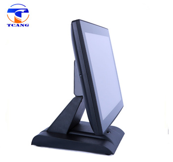 15 inch pos touch screen monitor supply capacitive screen or resistive screen