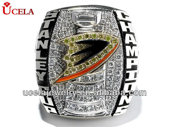 2007 Stanley Cup Ring stainless steel diamond ring jewelry