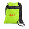 wholesale customized sports drwstring bag with pockets