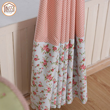 OEM Safety Flower Stylish Fold Cotton Curtains Fabric for Home Textile