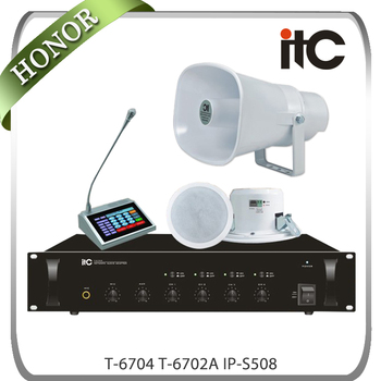 Professional 5 Zones IP Network PA Audio System for Office School Hotel