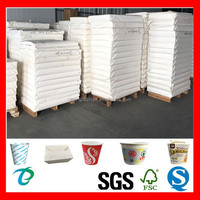 cutted paper sheet for making disposable paper food container