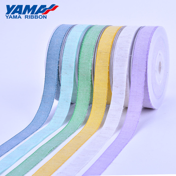 YAMA stocked antique featured soft grey white cotton ribbon