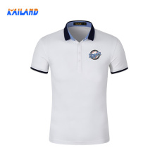 Kailand Hot Sell Custom Men Embroidered Logo With White Color Polo T shirt