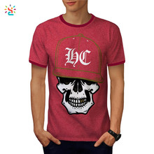 Custom ringer t-shirt mens graphic tees 50 cotton 50 polyester t shirt crew neck tee wholesale