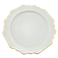 High quality sublimation blank gold rim cheap dinnerware sets ,white dinner plates
