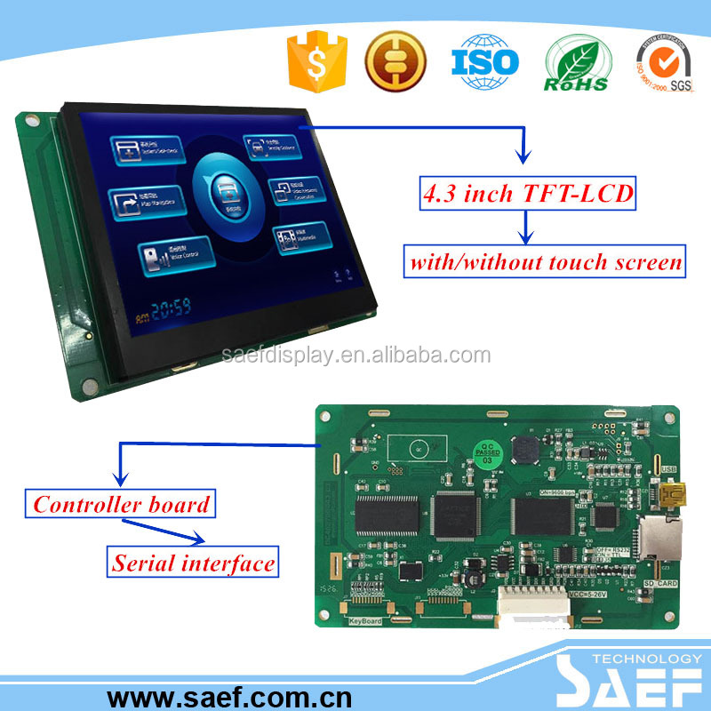 China supplier lcd screen 4.3 inch 480x272 tft lcd display module best android phone screen