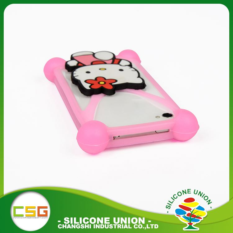 International standard cross cartoon soft no deformation silicone 5.5 inch mobile phone case