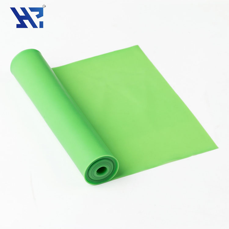 1800*150*0.45mm 100% natural latex Muscle training thera stretch band resistance band for body building