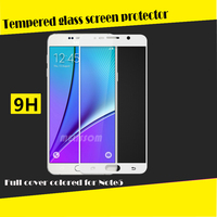 Full Cover Color Tempered Glass Screen Protector For Samsung Note 5 full cover tempered glass