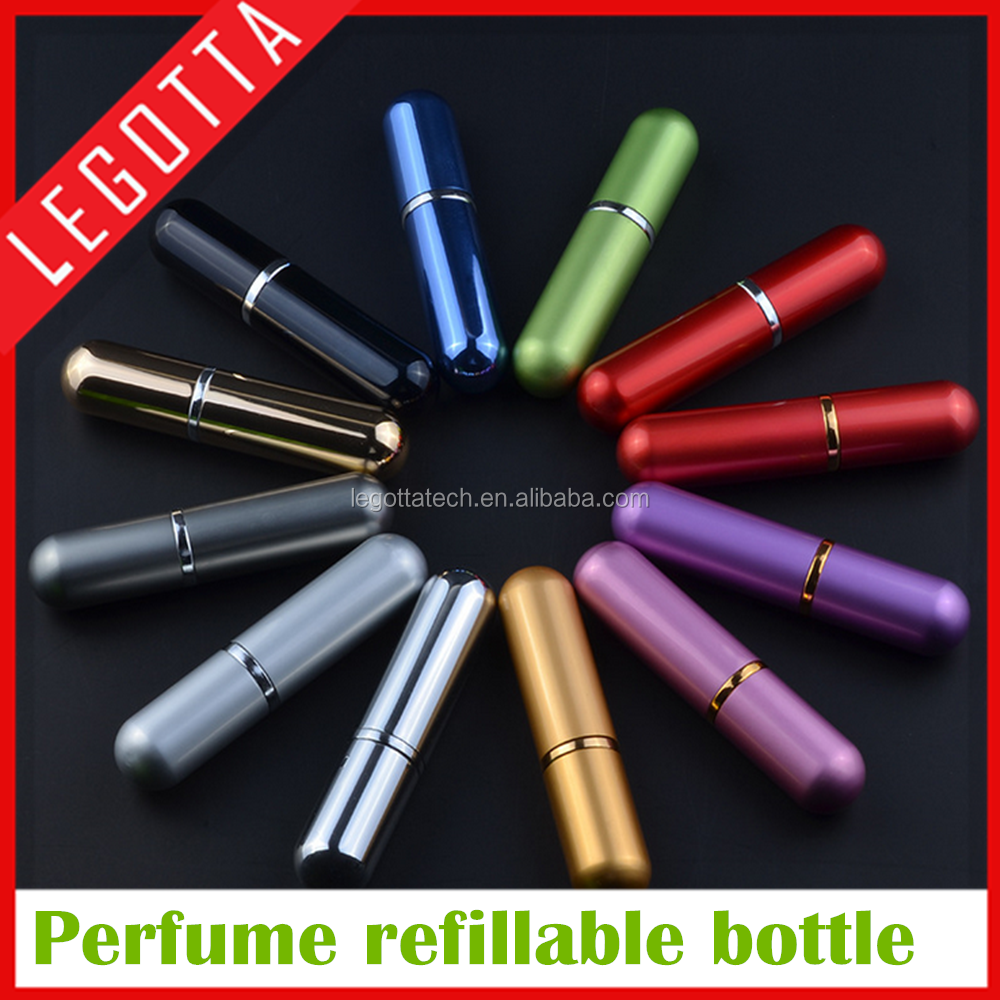 Empty selling good quality pocket size 5ml perfume refill bottle for girls