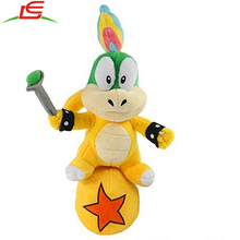 9inch 25cm Soft Anime Collection Toy Stuffed Animals Figure Super Mario Plush Koopa Lemmy Doll