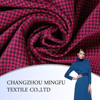 2015 China Organic check Italia design swallow gird and hound stooth worsted wool fabrics for women coat
