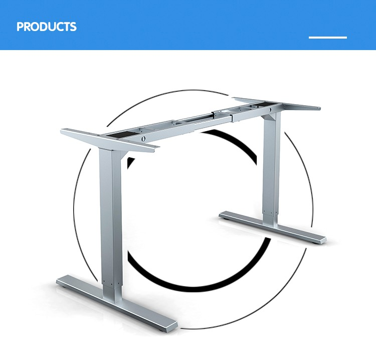 Jiecang JC35TS-RS2 low price two sections leg computer desk electric lifting table frame