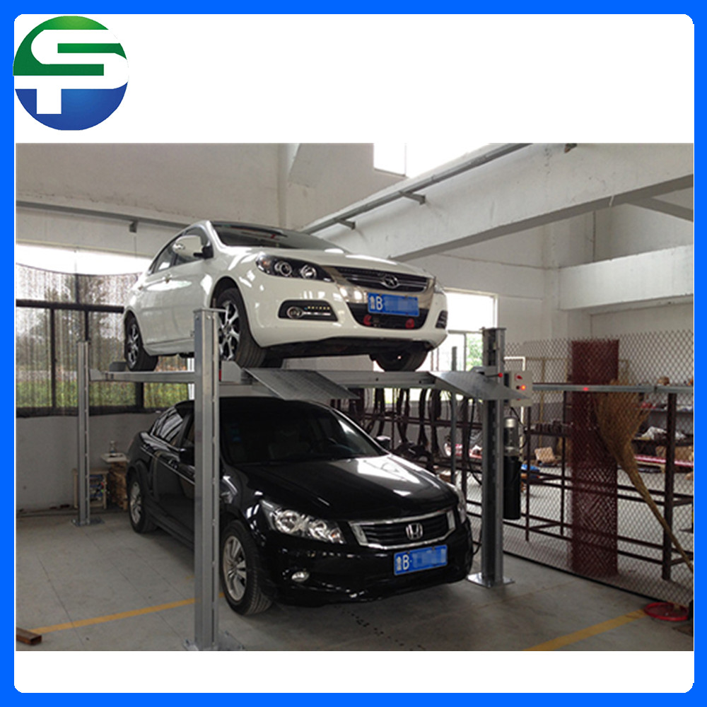 Steel wire rope simple parking lift, outdoor car lift