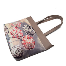 2015 woman handbag with interior light holder material handbag