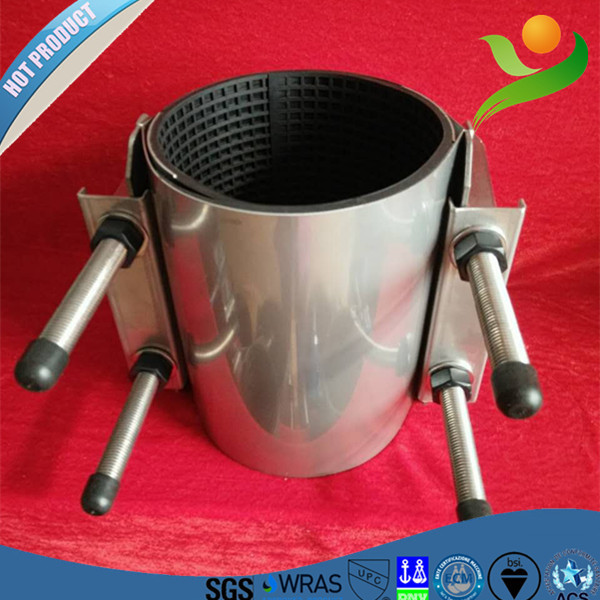 CR-2 different types of pipes easy connection coupling/all stainless steel camlock coupling/double section repair clamp